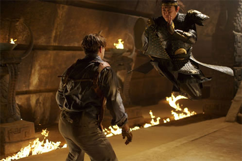 Jet Li zapateando en The Mummy 3